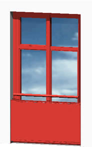 Planos de Puerta balconera 150×270 3d, en Puertas 3d – Aberturas