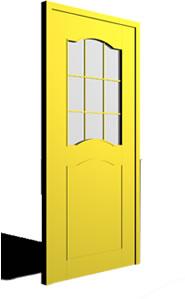 Puerta con 1/4 punto interno y vidrio repartido 3d, en Puertas – Aberturas