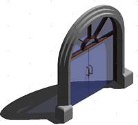 imagen Puerta-con-arco 3d, en Puertas 3d - Aberturas