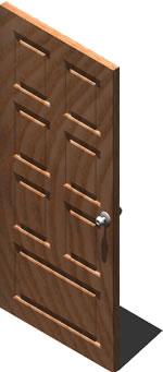 imagen Puerta con chapa 3d, en Puertas 3d - Aberturas