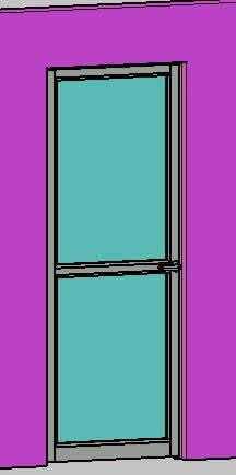 Planos de Puerta de comunicacion en aluminio y cristal, en Puertas 3d – Aberturas