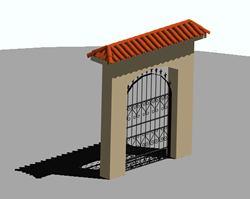 imagen Puerta de exterior, en Herrería artística
