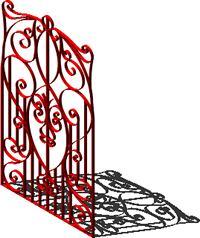 imagen Puerta de herreria artística 3d, en Herrería artística
