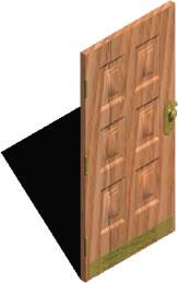 Planos de Puerta de madera 3d, en Puertas 3d – Aberturas