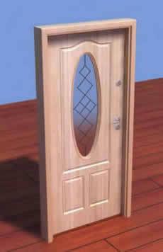imagen Puerta de madera 3d, en Puertas 3d - Aberturas