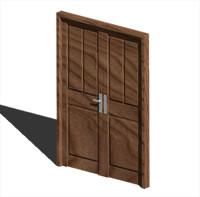 imagen Puerta doble hoja 3d, en Puertas 3d - Aberturas