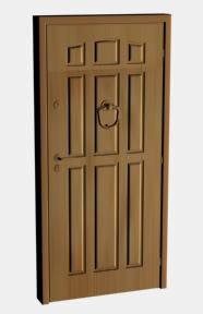 imagen Puerta en max super completa, en Puertas 3d - Aberturas