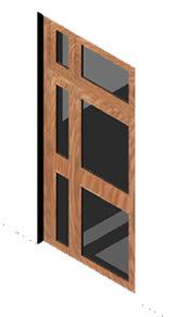 imagen Puerta exterior 155x320 3d, en Puertas 3d - Aberturas
