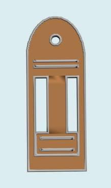 imagen Puerta externa 3d, en Puertas 3d - Aberturas