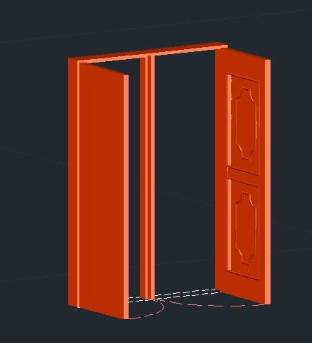 imagen Puerta madera 3d, en Puertas 3d - Aberturas
