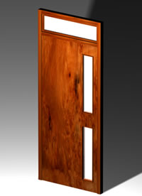 Puerta placa de madera con visillo 3d, en Puertas – Aberturas