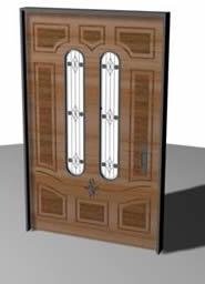 Puerta residencial en 3d, en Puertas 3d – Aberturas