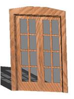 imagen Puerta vidriera 2 hojas en 3d - vidrio repartido, en Puertas 3d - Aberturas