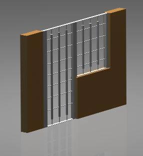 Planos de Puerta y reja en acero inox 3d, en Estructuras de acero – Detalles constructivos