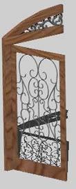 imagen Puertas con herreria artística, en Puertas 3d - Aberturas