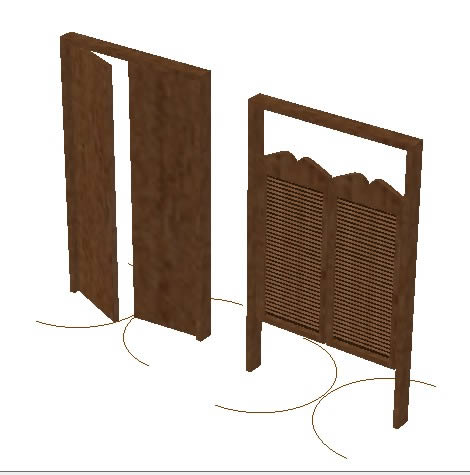 imagen Puertas dobles de va y ven, en Puertas especiales - Aberturas