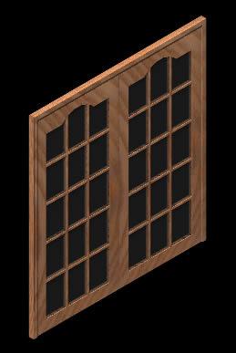 imagen Puertas en 3d con materiales aplicados, en Puertas 3d - Aberturas
