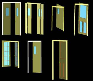 imagen Puertas en tres dimensiones, en Puertas 3d - Aberturas