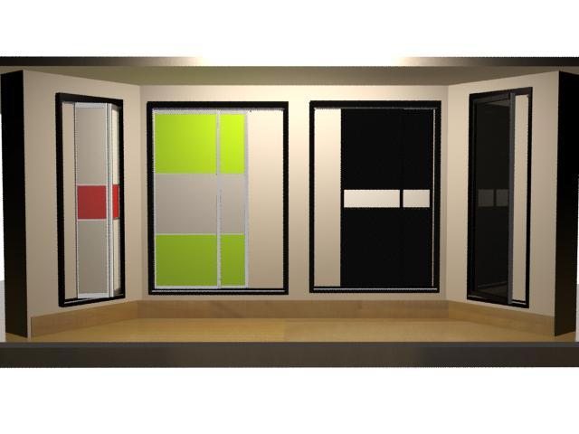 imagen Puertas placard 3d, en Puertas 3d - Aberturas