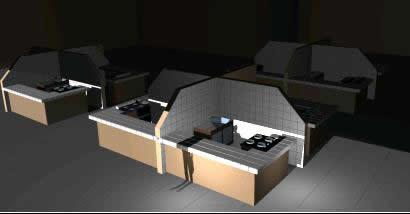 Planos de Puesto para mercado 3d, en Centros comerciales supermercados y tiendas – Proyectos