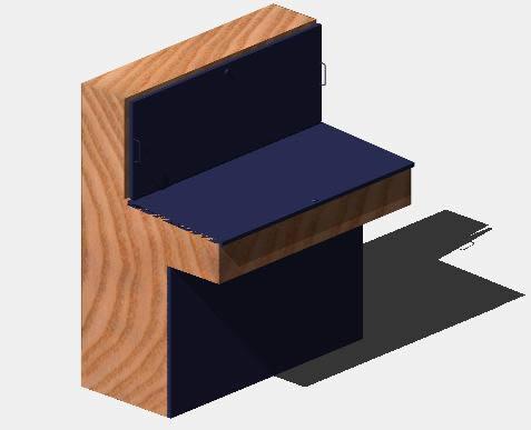 Planos de Pupitre de mando 3d, en Muebles varios – Muebles equipamiento