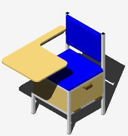 Planos de Pupitre ergonomico 3d, en Educación – Muebles equipamiento