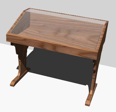 Planos de Pupitre expositor renderizado, en Muebles varios – Muebles equipamiento