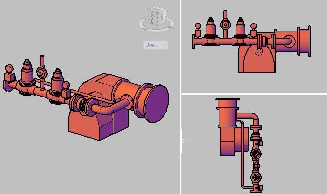 Planos de Quemador dual, en Maquinaria para industria de la alimentación – Máquinas instalaciones