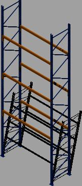 Planos de Rack 3d para paletizacion convencional tipo mecalux, en Estanterías y modulares – Muebles equipamiento