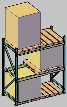 Planos de Rack y palet 3d, en Instalaciones varias – Instalaciones