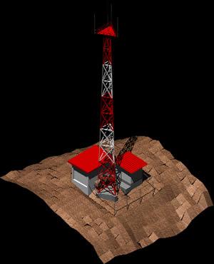 Planos de Radiobase celular, en Telecomunicaciones – Infraestructura