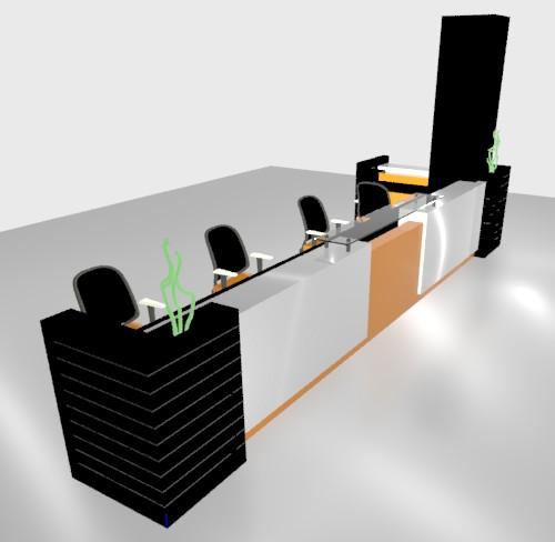 Recepción 3d, en Escritorios – Muebles equipamiento