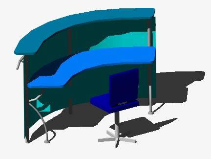 Planos de Recepcion tipo ap, en Oficinas y laboratorios – Muebles equipamiento
