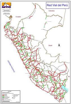 Planos de Red vial – perú – estructura general, en Perú – Diseño urbano