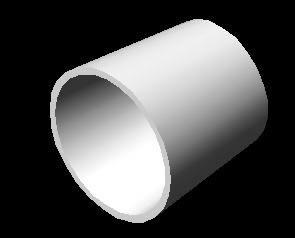 imagen Reduccion concentrica diametro 5x4 3d, en Válvulas tubos y piezas - Máquinas instalaciones