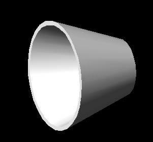 Planos de Reduccion concentrica diametro 8×4 material acero al carbono;  schedule estandar en 3d, en Válvulas tubos y piezas – Máquinas instalaciones