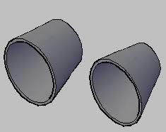 Planos de Reducciones concentricas 3d, en Válvulas tubos y piezas – Máquinas instalaciones