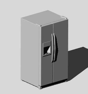 Planos de Refrigerador de puertas verticales, en Electrodomésticos – Muebles equipamiento