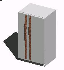 Planos de Refrigerador en 3d, en Electrodomésticos – Muebles equipamiento
