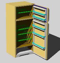 Planos de Refrigerador wilpoorl 3d, en Electrodomésticos – Muebles equipamiento