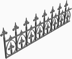 imagen Reja de hierro forjado 3d, en Herrería artística