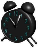 Reloj despertador 3d, en Objetos varios – Muebles equipamiento