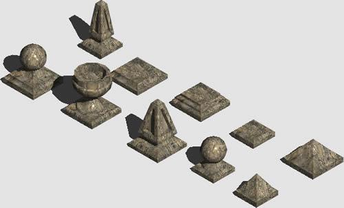 imagen Remates de balaustrada, en Verjas y vallados - Parques paseos y jardines