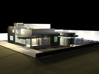 Remodelacion de una casa 3d vista nocturna, en Vivienda unifamiliar 3d – Proyectos