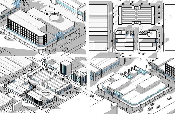 Planos de Remodelacion del mercado norte en cordoba – modelo 3d, en Argentina – Diseño urbano