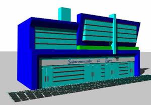 Planos de Remodelacion fachada supermercado, en Centros comerciales supermercados y tiendas – Proyectos