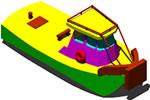 Planos de Remolcador 3d, en Embarcaciones – Medios de transporte