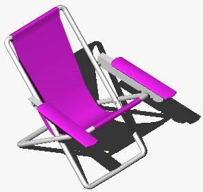 Planos de Reposera 3d armchair 3d, en Sillas 3d – Muebles equipamiento