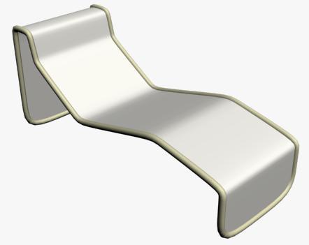 Reposera 3d, en Sillas 3d – Muebles equipamiento