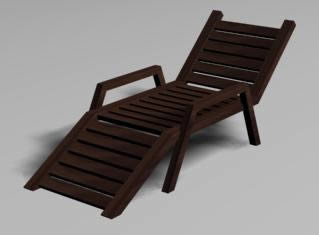 Reposera 3d, en Sillones 3d – Muebles equipamiento